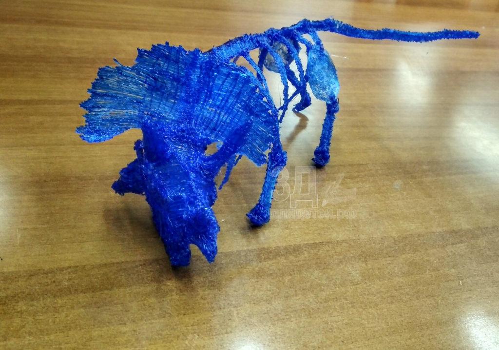 """Поделка 3D ручкой. Скелет динозавра с занятий """"3ддлядетей.рф"""""""