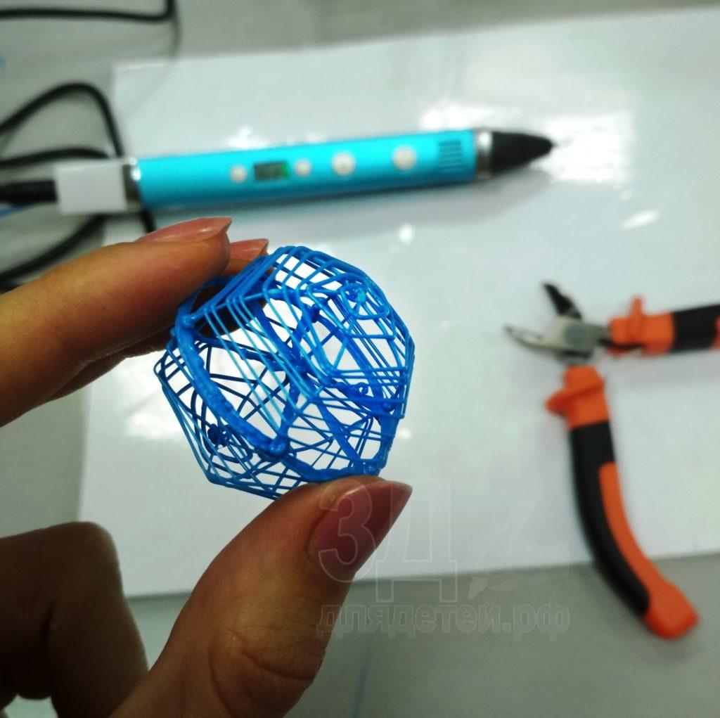 Поделки 3D ручкой. Каркас шарика