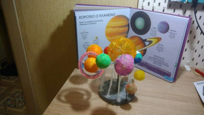 Солнечная система индивидуальные занятия 3D ручкой от проекта 3Ддлядетей.рф заставка