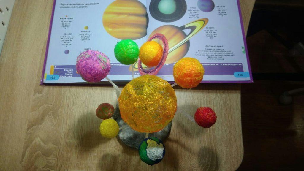 Солнечная система индивидуальные занятия 3D ручкой от проекта 3Ддлядетей.рф