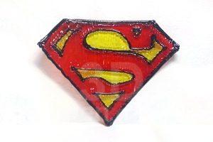 Мастер-класс 3D ручкой значок супермен