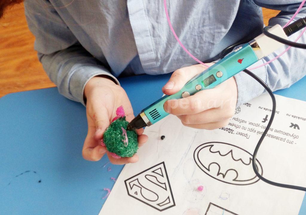 Хрюня 3D ручкой. Штриховка каркаса
