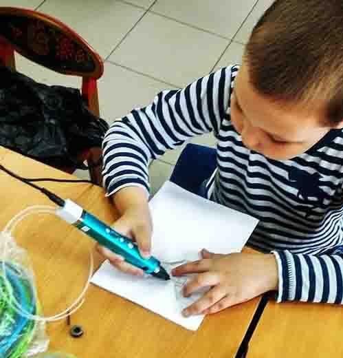 индивидуальные занятия 3D ручкой от проекта 3Ддлядетей